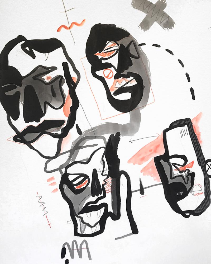 1000mm x 700mm / Watercolour, Ink, Pencil / Cold press paper