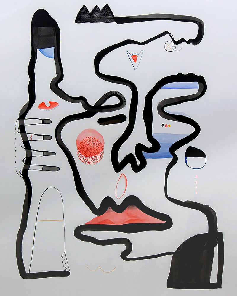 1125mm x 1550mm / Ink, Pencil, watercolour / Cold press paper